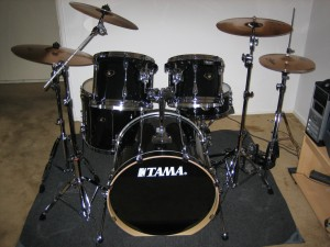 My Tama drum set before I converted it.