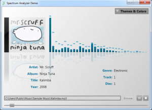 Spectrum Analyzer Control With A Light Theme