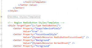 XAML Regions Extension For Visual Studio 2010