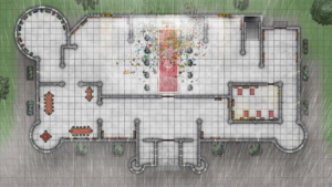Cathedral of Helm - Level 1 - Rainy Day with Broken Glass