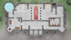 Cathedral of Helm - Level 1 - Rainy Day with Magic Ward