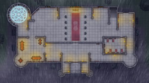 Cathedral of Helm - Level 1 - Rainy Night with Magic Ward